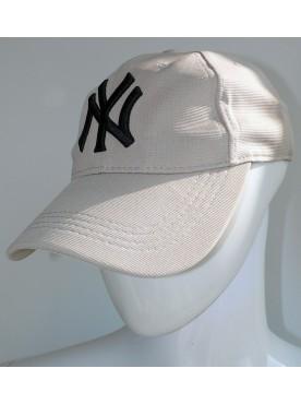 Casquette New York couleur beige