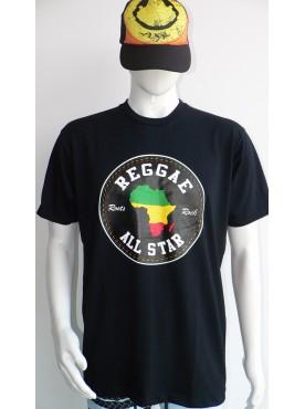 t-shirt homme noir imprimé reggae all star bob Marley