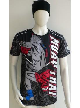 t-shirt maillot muay thai original boxeur