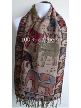 écharpes étoles cachemire pashmina éléphant