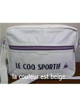 Sacoche Homme Le Coq Sportif Reporter Linéaire Ivoire