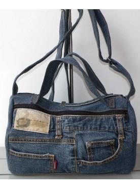 Sac A Main Femme Bowling jean's denim recyclé