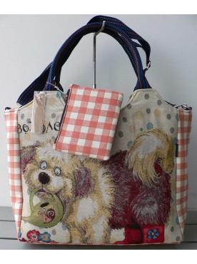 grand sac cabas carreaux vichy femme imprimé le chien Pollux