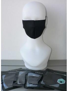lot de 4 masques de protection noir multifonction en tissu lavable