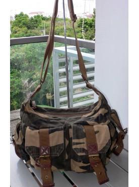 sac toile pour homme Femme sac d'école sac militaire sac messager