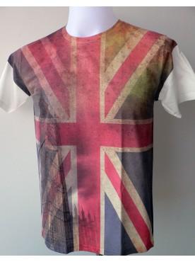 T-Shirt Homme Imprimé Imprimé Du Drapeau Englais