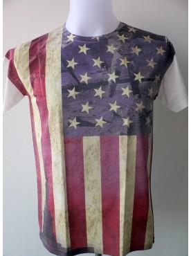 T-Shirt Homme Imprimé Imprimé Du Drapeau USA
