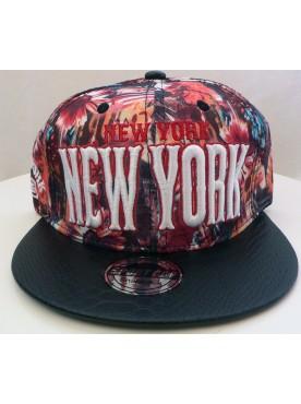 Casquette Noir New York A Fleurs