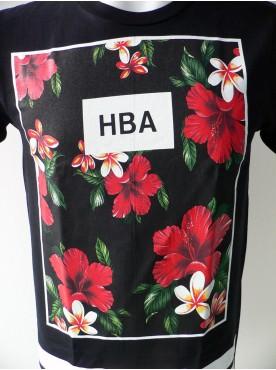 T-Shirt Hip-Hop homme manche courte imprimé fleurs exotique