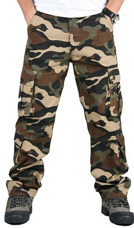 pantalon treillis camouflage homme