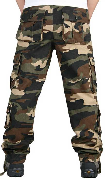 pantalon treillis camouflage hommes
