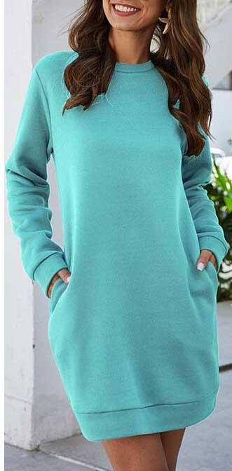 Robe turquoise femme