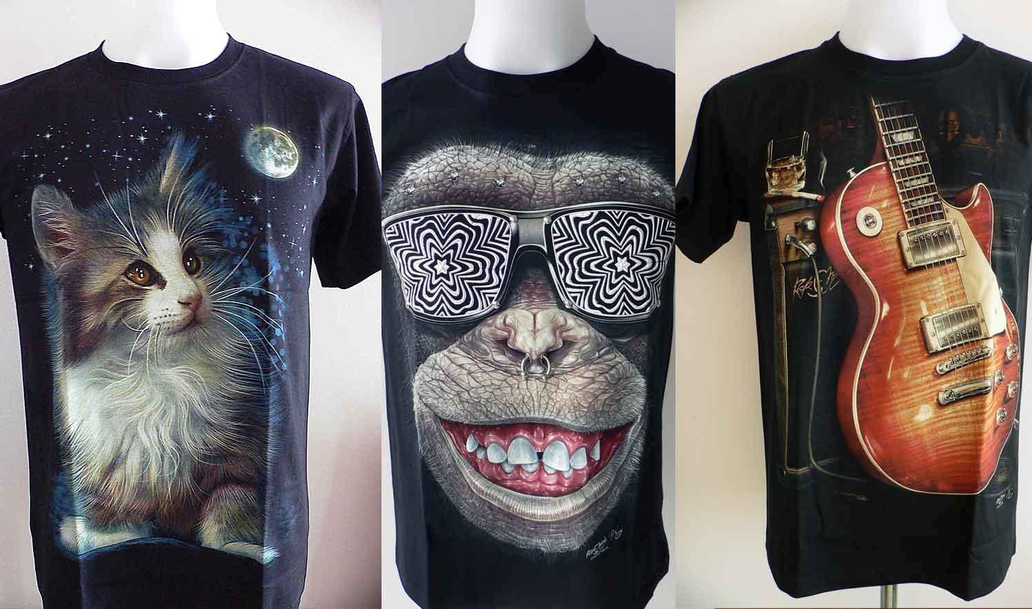 t-shirt rock Chang homme