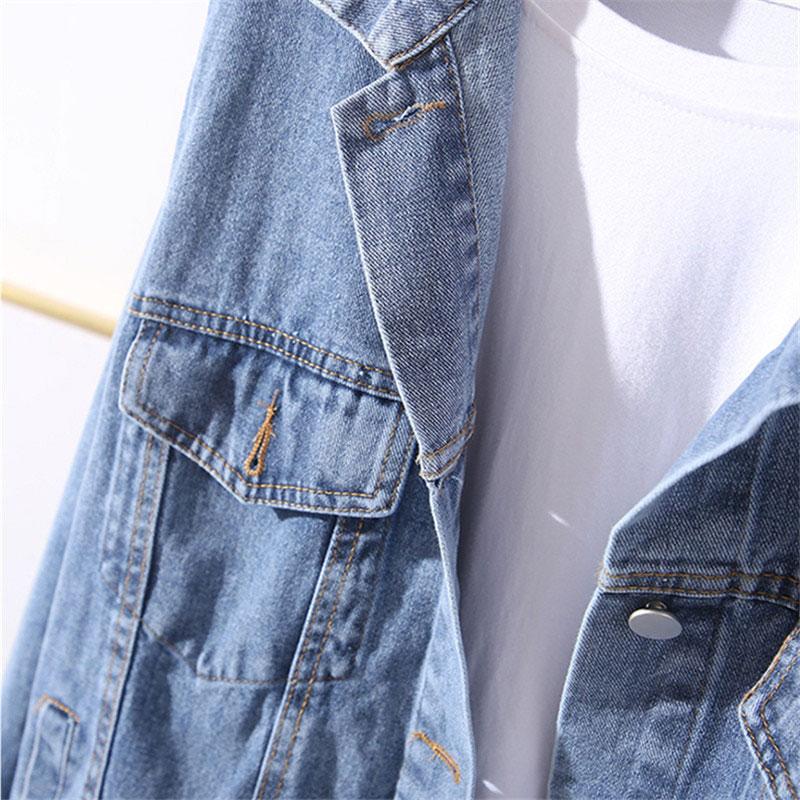 veste femme delave en jeans